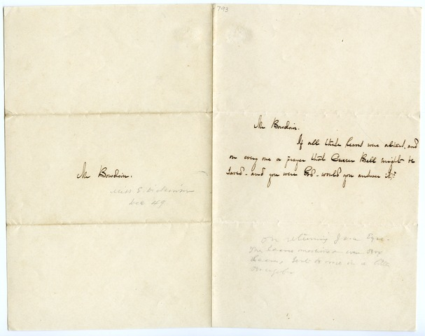 Emily Dickinson letter to Elbridge G. Bowdoin