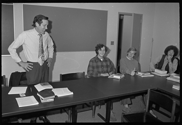 Photographs of a class in session taught by John William Ward, 1972 October