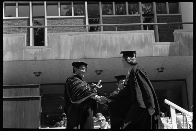 Photographs of the 153rd Commencement ceremony, 1974 June 7