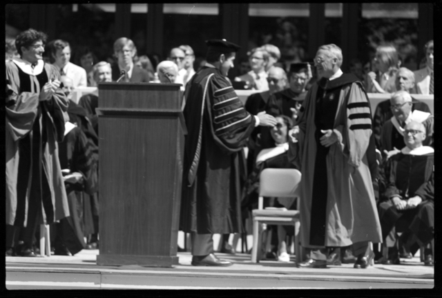 Photographs of the 152nd Commencement ceremony, 1973 June 1