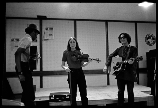 Photographs of a band playing in Valentine Hall, 1973 April