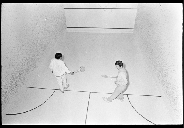 Photographs of people playing sports, 1974 February 2