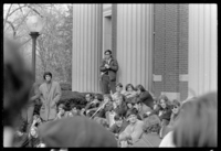 Photographs of Vote With Your Feet demonstration, 1968 November 5