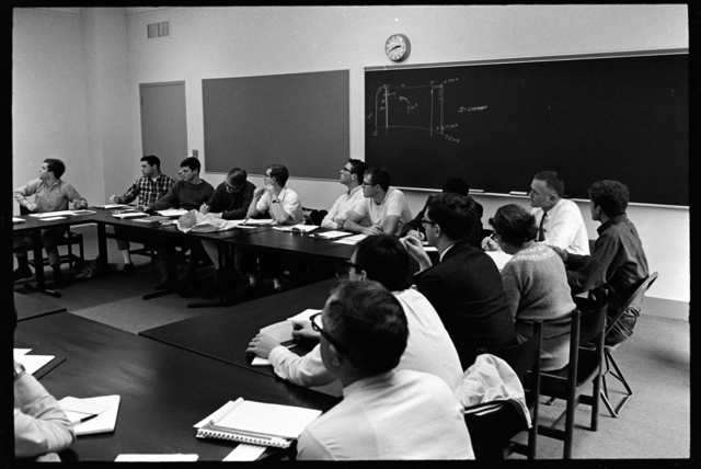 Photographs of a class in session, 1967 March 2