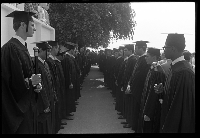 Photographs of the 147th Commencement ceremony, 1968 June 7