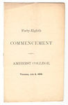 Amherst College Commencement program, 1869 July 8