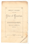 Amherst College Commencement program, 1859 August 11