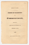 Amherst College Commencement program, 1830 August 25