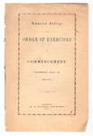 Amherst College Commencement program, 1862 July 10