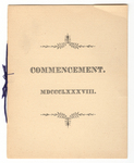 Amherst College Commencement program, 1888 June 27