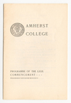 Amherst College Commencement program, 1901 June 26