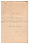 Amherst College Commencement program, 1880 July 1
