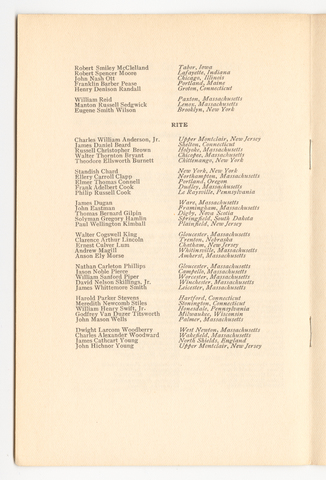 Amherst College Commencement program, 1902 June 25
