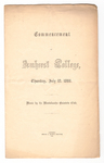 Amherst College Commencement program, 1866 July 12