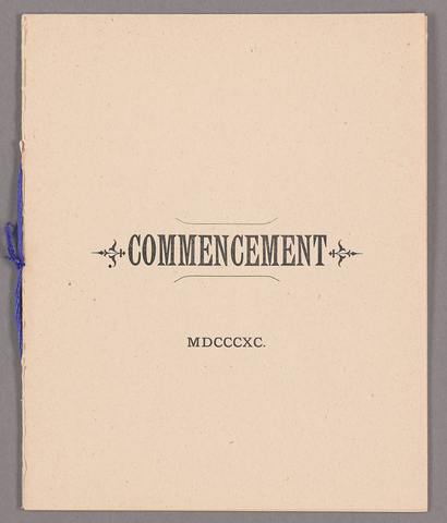Amherst College Commencement program, 1890 June 25