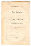 Amherst College Commencement program, 1855 August 9