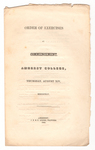 Amherst College Commencement program, 1845 August 14