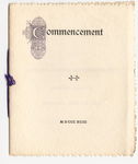 Amherst College Commencement program, 1893 June 28