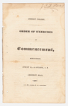 Amherst College Commencement program, 1829 August 26