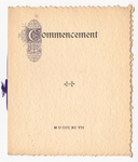 Amherst College Commencement program, 1897 June 30