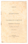 Amherst College Commencement program, 1842 July 28