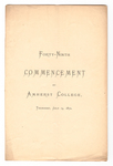 Amherst College Commencement program, 1870 July 14