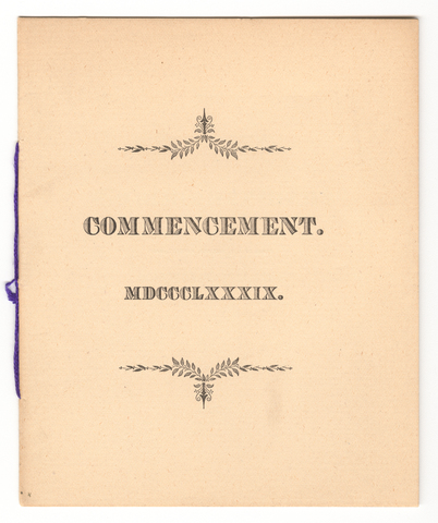 Amherst College Commencement program, 1888 July 3