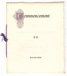 Amherst College Commencement program, 1892 June 29