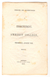Amherst College Commencement program, 1850 August 8
