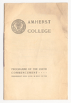 Amherst College Commencement program, 1898 June 29