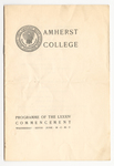 Amherst College Commencement program, 1905 June 28