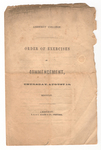 Amherst College Commencement program, 1854 August 10