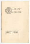 Amherst College Commencement program, 1906 June 27