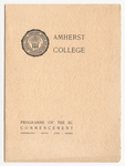 Amherst College Commencement program, 1911 June 28