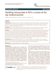 Handling missing data in RCTs: A review of the top medical journals