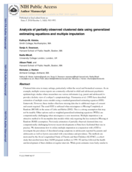 Analysis of partially observed clustered data using generalized estimating equations and multiple imputation