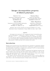Integer decomposition property of dilated polytopes