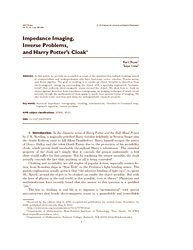 Impedance imaging, inverse problems, and Harry Potter's cloak