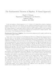 The fundamental theorem of algebra: A visual approach