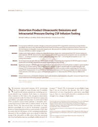 Distortion product otoacoustic emissions and intracranial pressure during CSF infusion testing