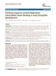 Flanking sequence context-dependent transcription factor binding in early Drosophila development