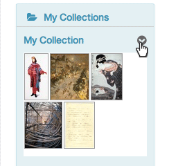Click on the collection menu